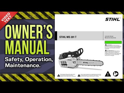 Owner's Manual: STIHL MS 201 T Chain Saw