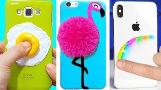 5 DIY STRESS RELIEVER PHONE CASES | Easy & Cute Phone Projects & iPhone Hacks