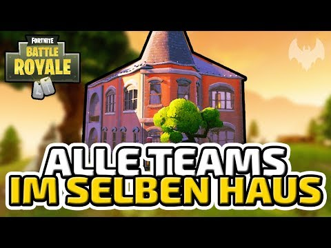 Alle Teams im selben Haus - ♠ Fortnite Battle Royale ♠ - Deutsch German - Dhalucard