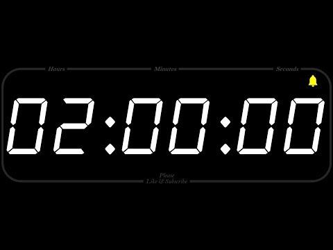 2 Hour - TIMER & ALARM - 1080p - COUNTDOWN