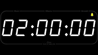 2 Hour - TIMER & ALARM - 1080p - COUNTDOWN