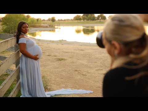 AMAZING MATERNITY PHOTOSHOOT IN THE STUDIO AND NATURE, Pregnancy portrait photography