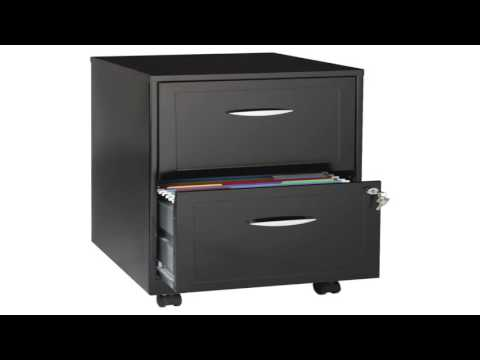 Hirsh 3 Drawer SOHO Steel File Cabinet 18 Inch Soft White