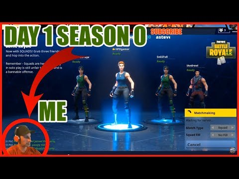 First Day Of Fortnite ORIGINAL MAP | Season 0 Day 1| Battle Royale Gameplay |
