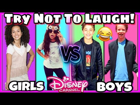 Thumbnail: Try Not To Laugh Challenge Disney Girls VS Disney Boys Funny Musical.ly Battle 2017