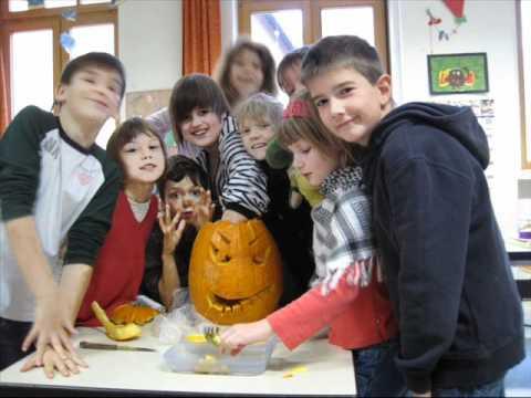 Kunstunterricht Halloween Gruseliger Kürbis Grundschule