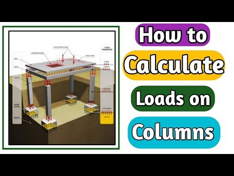 How to calculate Loads on Columns? full Explain in Urdu/Hindi