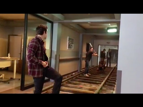 Thumbnail: Dylan O'Brien, Dylan Sprayberry & Ryan Kelley playing baseball on Teen Wolf set