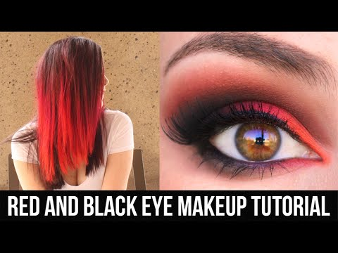 Red and Black Eye Makeup Tutorial