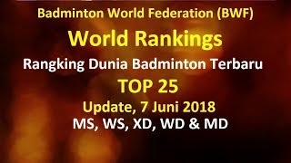 Video Ranking Badminton BWF Terbaru TOP 25, Update 7 Juni 2018 Untuk Semua Sektor download MP3, 3GP, MP4, WEBM, AVI, FLV Juli 2018