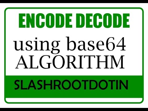 BASE64 ENCODE DECODE METHOD