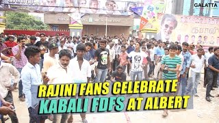 Rajini fans celebrate Kabali FDFS at Albert