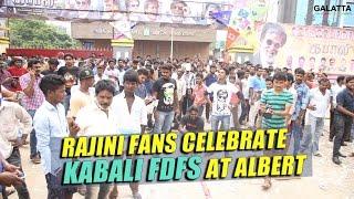 Rajini fans celebrate Kabali FDFS at Albert