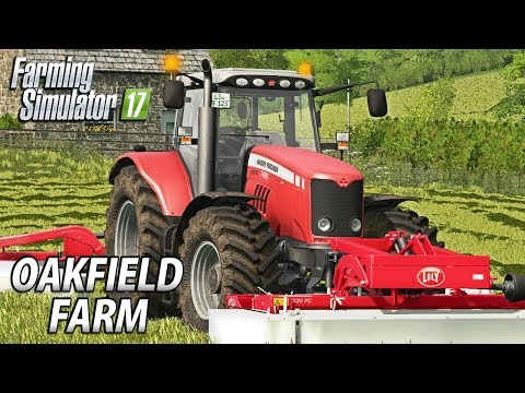 1st GRASS CUT  | Farming Simulator 17 | Oakfield Farm - Episode 5