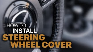 How To Install Custom Leather Steering Wheel Cover    LeatherSeats.com   LS Tech Tips