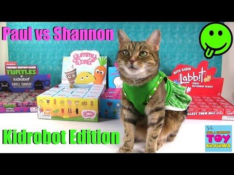 Paul vs Shannon Kidrobot Edition | BFFS Yummy World Labbits TMNT Blind Bag Opening | PSToyReviews