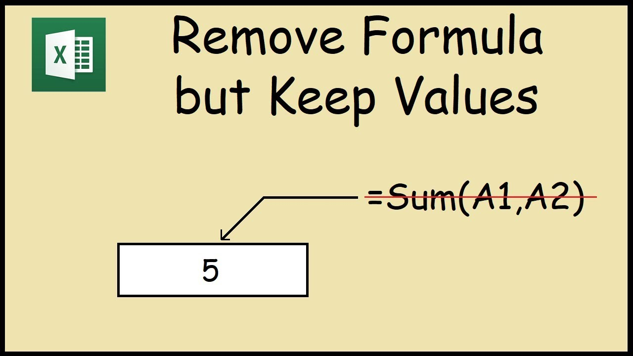 How to Remove Formulas but keep Values in Excel cells