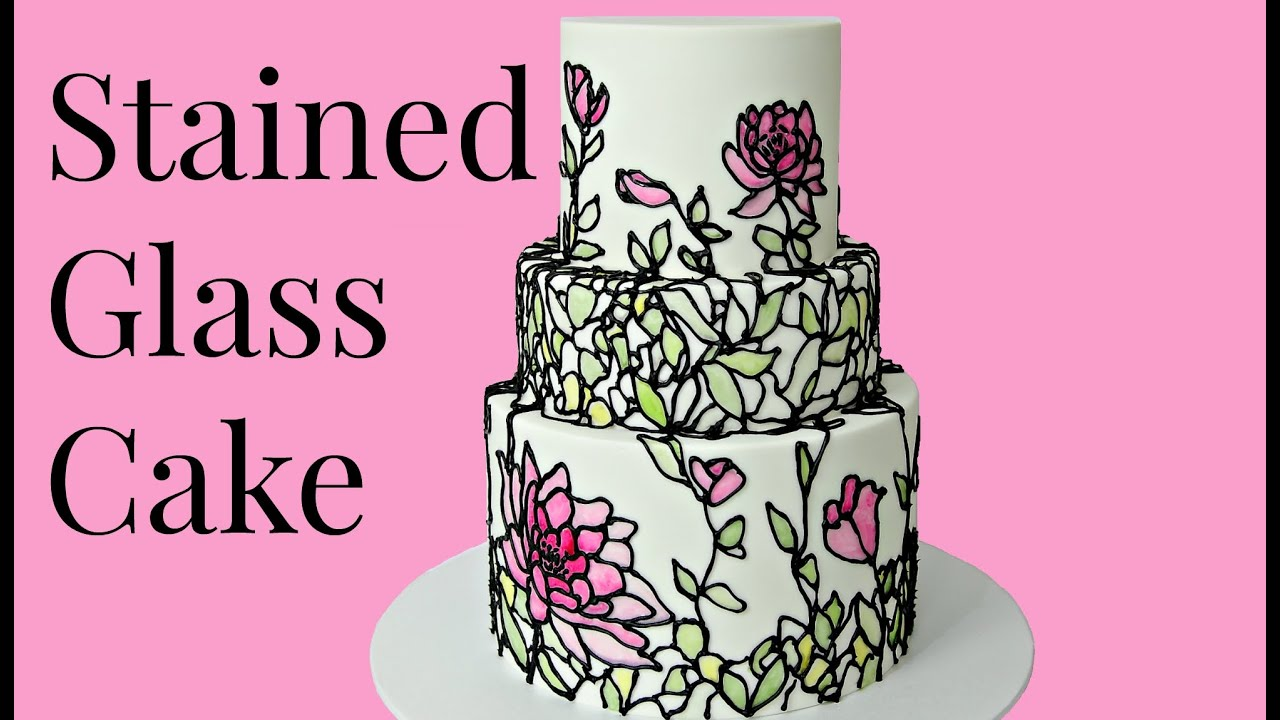 CAKE TREND  Stained Glass  CAKE STYLE  YouTube