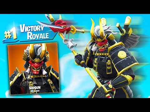*NEW* LEGENDARY FORTNITE SHOGUN SKIN GAMEPLAY! with MY LITTLE BROTHER! thumbnail