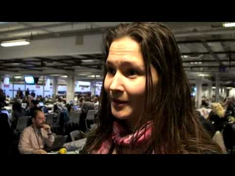Katja Nyborg of Greenland radio speaks from COP15 on the eff