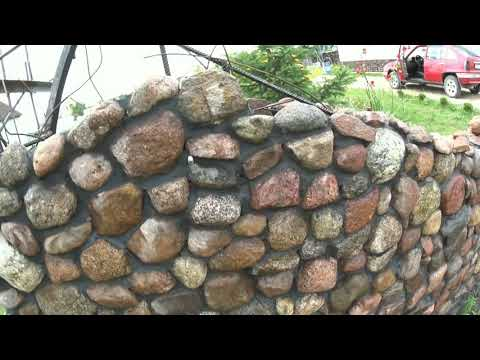 Забор из камня. Ноу-Хау в кладке камней.