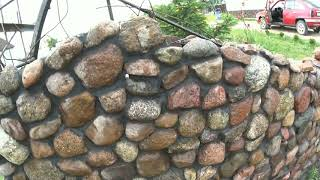 как сделать забор из камня своими руками