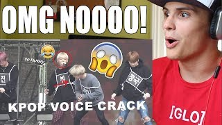 KPOP IDOLS VOICE CRACKS | FUNNY MOMENTS REACTION