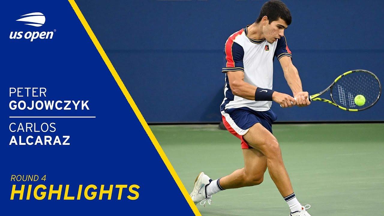 Carlos Alcaraz vs Peter Gojowczyk Highlights   2021 US Open Round 4