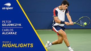 Carlos Alcaraz vs Peter Gojowczyk Highlights | 2021 US Open Round 4