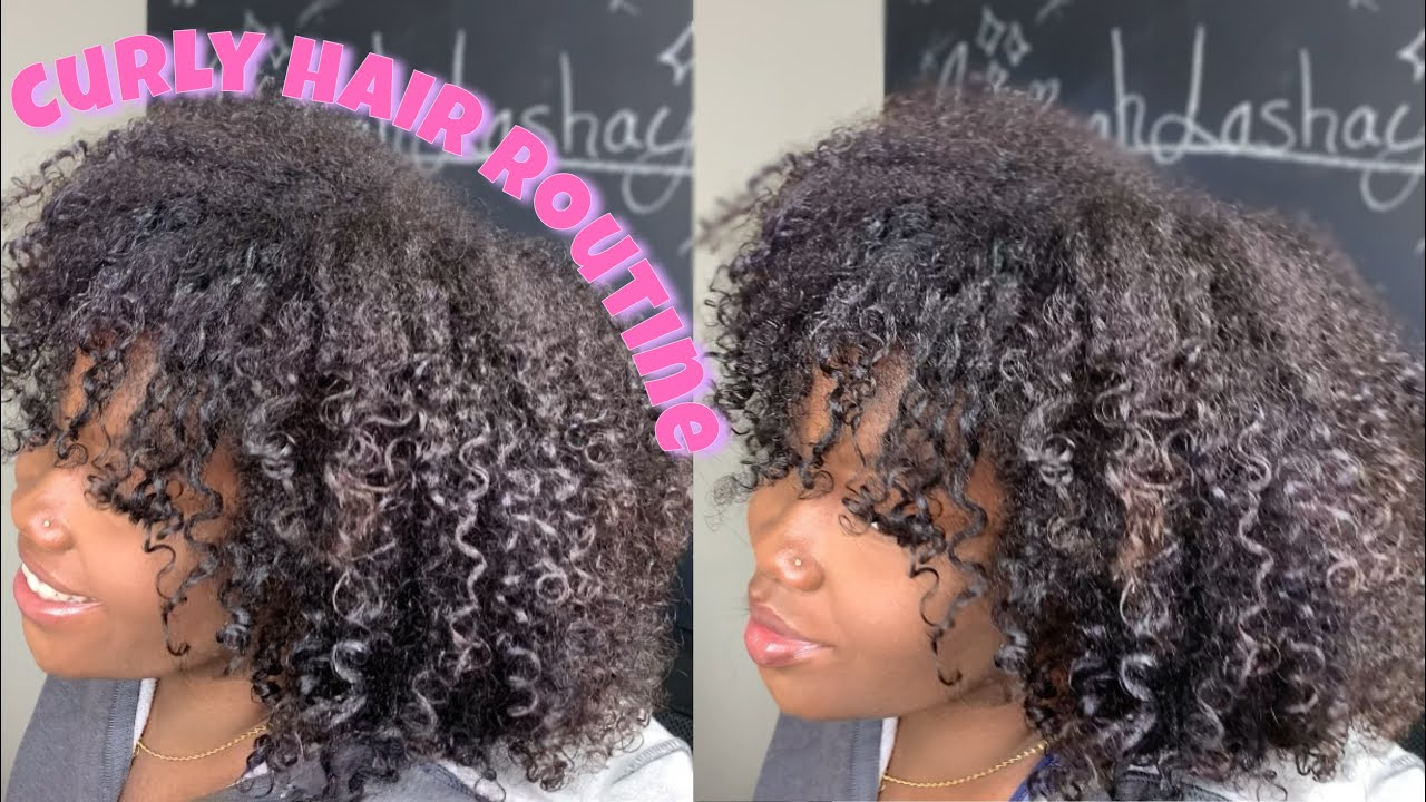 wash and go routine on medium length 3c/4a natural hair