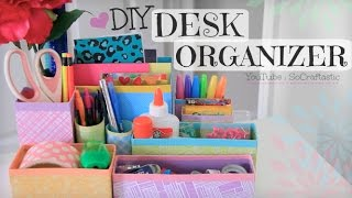 Diy Desk Organizer // Back To School // Room Decor How To
