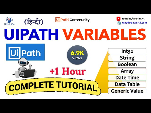 Complete UiPath Variables Tutorial Video with Practical Example||UiPath RPA Tutorial