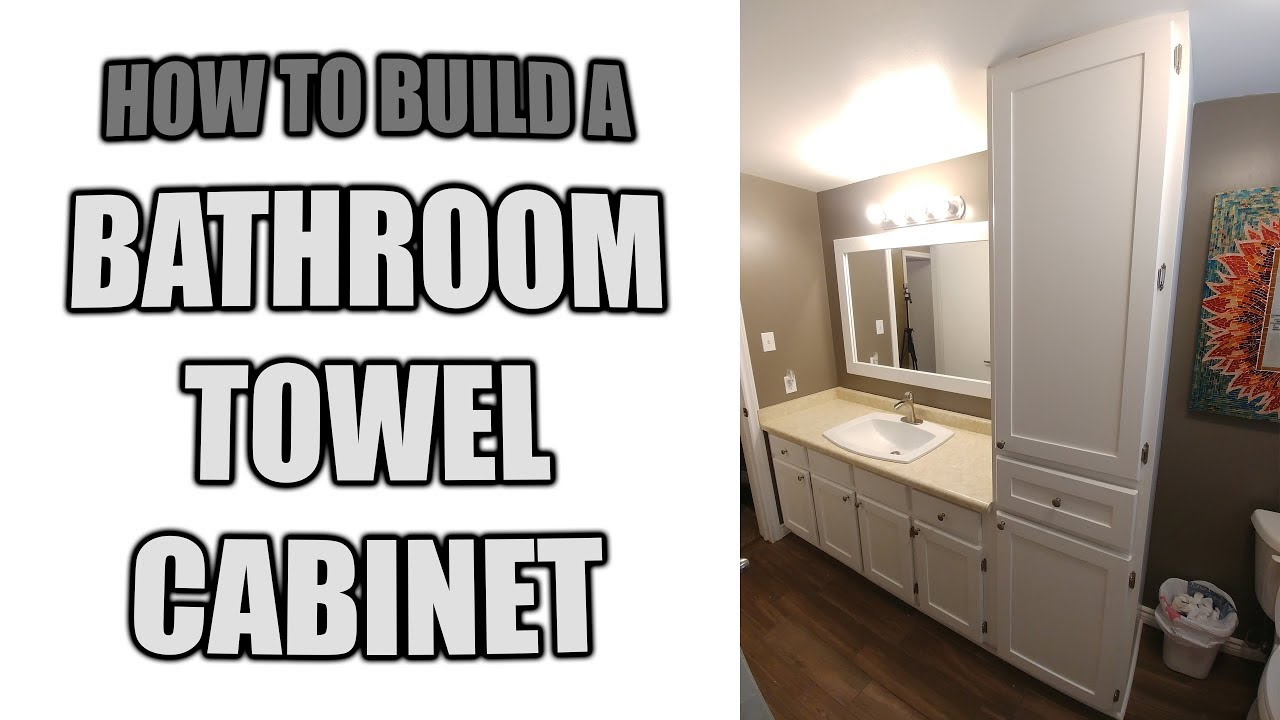 bathroom towel cabinet. How to Build a Bathroom Towel Cabinet  YouTube