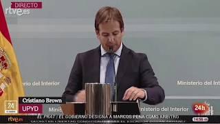 Reunión del Pacto Antiyihadista – Comparecencia de Cristiano Brown, Portavoz Nacional de UPYD