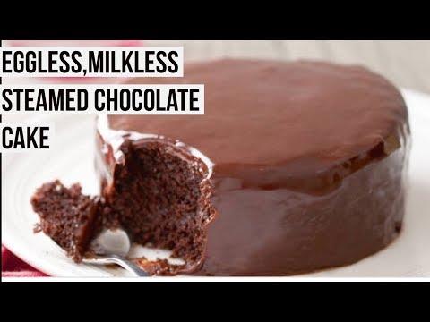Eggless,milkless Steam Chocolate Cake Recipe