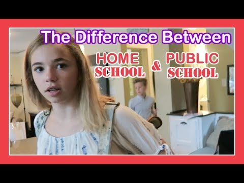 THE DIFFERENCE BETWEEN HOME SCHOOL AND PUBLIC SCHOOL | Flippin' Katie
