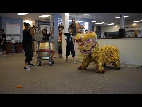 Chinese Lion Dance Practice