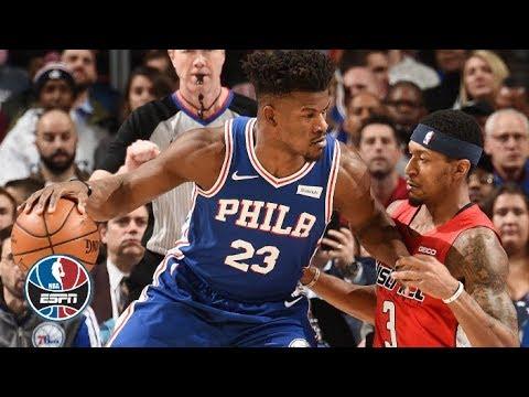 Jimmy Butler, Joel Embiid, Ben Simmons propel in 76ers' win vs. Wizards | NBA Highlights