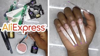 DIY Testing Fiberglass Nail Kit from Aliexpress