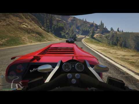 Siêu xe trong GTA V tập 14 Siêu môtô đụng độ siêu xe Lamborghini aventador - ThanhTrungGM