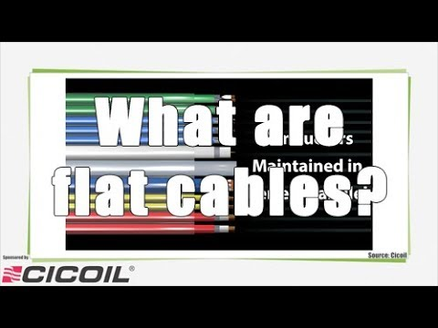 What are flat cables?