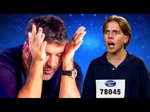 Top 10 Most CRINGEWORTHY Singers That Left Simon Cowell Speechless!