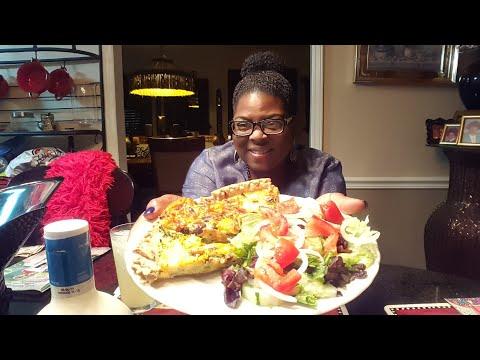 Cheesy Mushroom,Onion,Sausage & Broccoli Quiche w/side salad! Viewer Appreciation