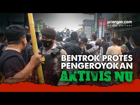 Bentrok Protes Pengeroyok Aktivis NU