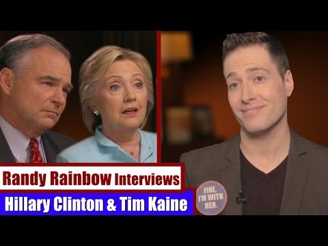 Randy Rainbow Interviews HILLARY CLINTON & TIM KAINE