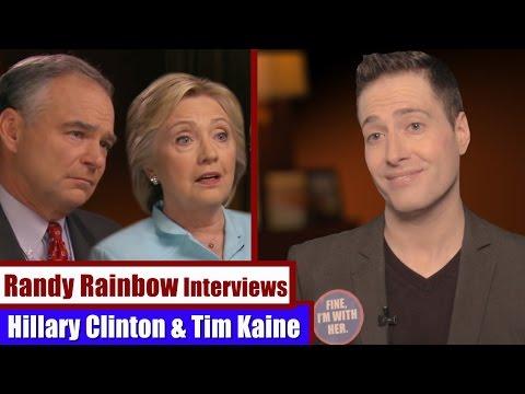 Randy Rainbow Interviews HILLARY CLINTON & TIM KAINE