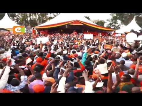 Rais Uhuru Kenyatta na Naibu wa Rais William Ruto wafanya kampeni Nairobi na Kiambu