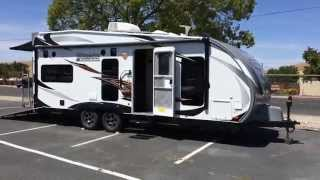 Lance Toy Hauler 2212 Trailer Only 6600# Sleeps 6 And Hold 4 Quads.
