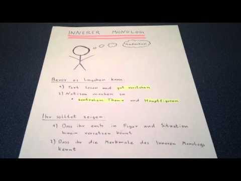 Inneren Monolog Schreiben Gestaltende Interpretation Youtube