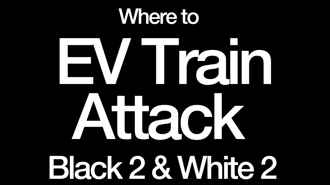how to ev train pokemon black and white